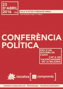 ConferenciaPolitica_Cartell4 cartell roig